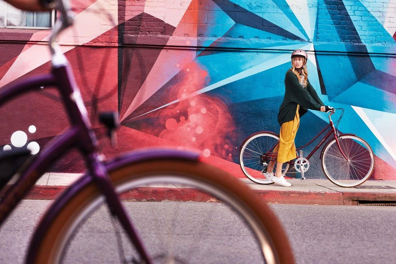欧式风情自行车